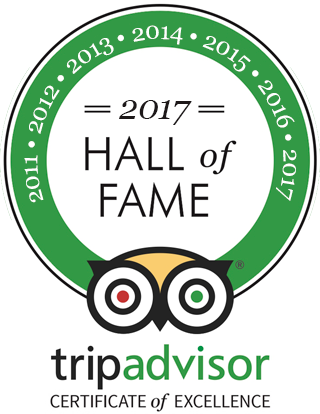 Tripadvisor Certificate of Excellence 2016 - 2017